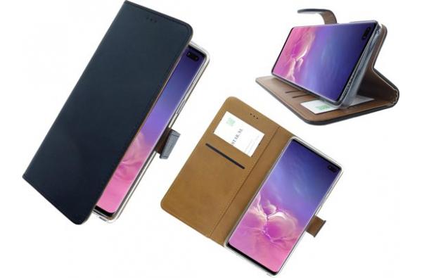 Samsung Galaxy Note 10 Lederen Hoesje Zwart