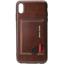 Pierre Cardin back cover iPhone Xr Donkerbruin