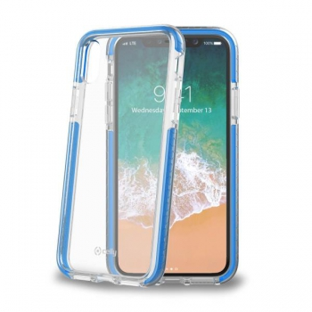 Celly Anti shock shield for iPhone X Blauw