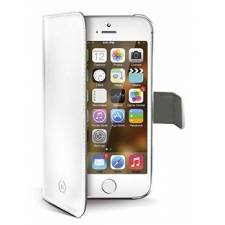 iPhone SE Echt Leer Hoesje Wit