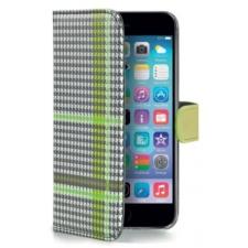 Apple iPhone 6/6S Chique Hoesje Grijs/Zwart/Groen