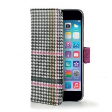 Apple iPhone 6/6S Chique Hoesje Zwart/Wit/Roze
