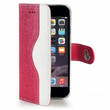 Apple iPhone 6/6S Hoesje Van Kwaliteit Roze/Wit
