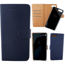 iPhone 7 Plus 100% Leer Krokodil Hoesje Blauw