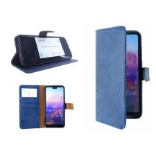 Samsung Galaxy A40 hoesje leer - blauw