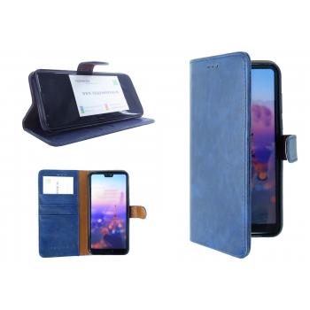 Samsung Galaxy A30 hoesje leer - blauw