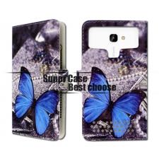 Asus Zenfone Zoom S Blauwe Vlinder Print UPC Leer Hoesje