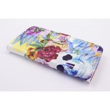 iPhone 7 'Bloemen en Doodshoofd' Print Eco-Leer Hoesje