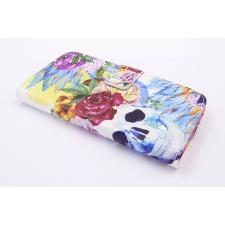 Samsung Galaxy J3 2017 'Bloemen en Doodshoofd' Print Eco-Leer Hoesje