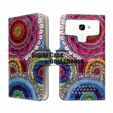 Motorola Moto E4 Plus Bloemen Print UPC Leer Hoesje