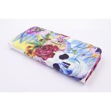 Samsung Galaxy S8 'Bloemen en Doodshoofd' Print Eco-Leer Hoesje