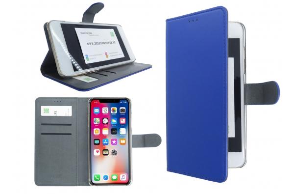 Iphone XS Echte Leer Blauw
