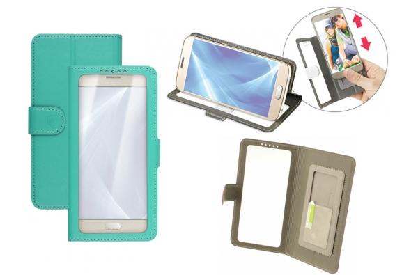 Alcatel Pixi 4 5.0 Bookcase Doorzichtig Groen XL