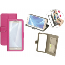 HTC 11 Bookcase Doorzichtig Roze XL
