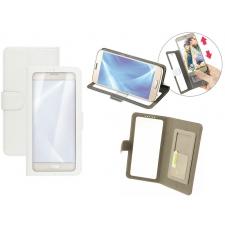 Huawei P10 Bookcase Doorzichtig Wit XL