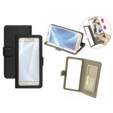 Motorola Moto C Hoesje Doorzichtig Zwart XL