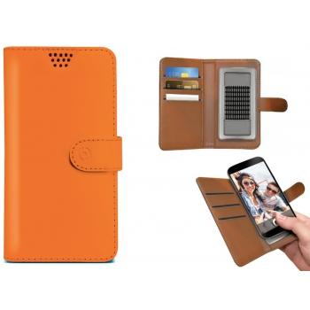 iPhone 8 Plus Bookcase van leer oranje XXL