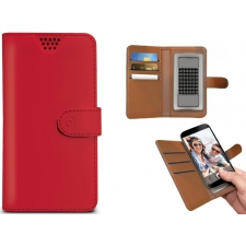Huawei P8 Lite Smart Hoesje van leer Rood XL
