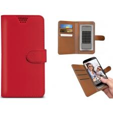 Motorola Moto C Plus Hoesje Van Leer Rood XL