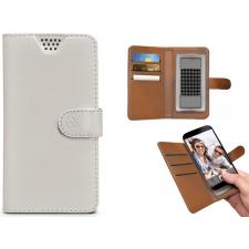 Motorola Moto C Plus Hoesje Van Leer Wit XL
