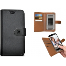Motorola Moto G4 Plus Hoesje van leer Zwart XXL