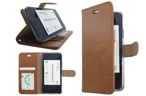 Iphone XS Max Bookcase licht bruin