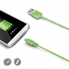 Celly Cable Data Micro USB Green