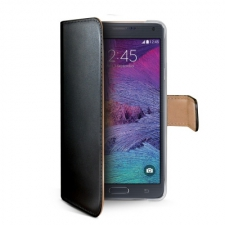 Celly Case Wally PU Galaxy Note 4 Black