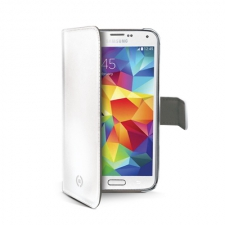 Celly Case Wally PU Galaxy S5 Mini White