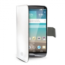 Celly Case Wally PU LG G3 White