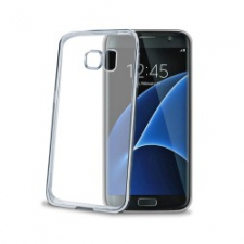 Celly Cover Gelskin Laser Galaxy S7 Edge Silver