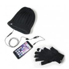 iPhone 8 Plus Wintermuts met Ingebouwde Oortjes + Touchscreen Handschoenen