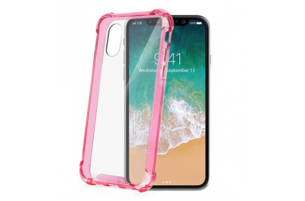 Celly Extra clear protection iPhone X Roze
