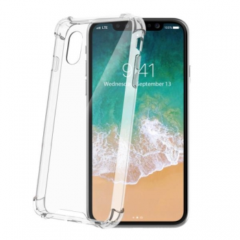 Celly Extra clear protection iPhone X Transparant
