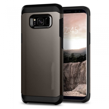 Samsung Galaxy S8 Plus Armor Bescherming Hoesje Grijs
