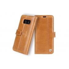 Samsung Galaxy S8 Origineel Luxe Book Case Hoesje 100% Leer Licht Bruin