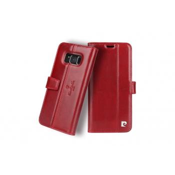 Samsung Galaxy S8 Origineel Luxe Book Case Hoesje 100% Leer Rood