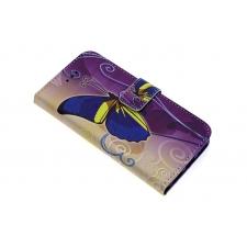 iPhone 7 'Geelblauwe Vlinder' Print Eco-Leer Hoesje