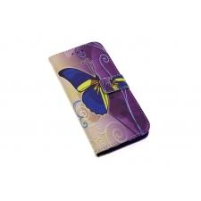 Samsung Galaxy S8 Plus 'Geelblauwe Vlinder' Print Eco-Leer Hoesje