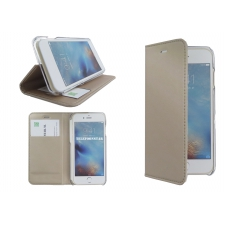 Iphone 7 Gouden bookcase leer