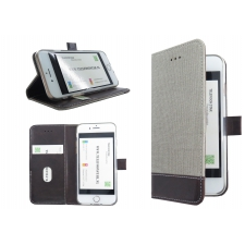 Iphone 7 textiel en bruine leer