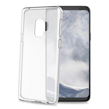 Samsung Galaxy S9 transparante witte gelskin hoes