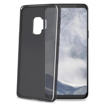 Samsung Galaxy S9 transparante zwarte gelskin hoes