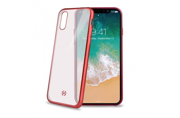 Celly Hi-tech protection for iPhone X Rood