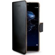 Huawei P10 Lite Boek hoesje Echt leer Zwart