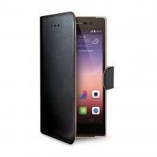 Huawei P8 Lite 2017 Echt Leer Hoesje Zwart