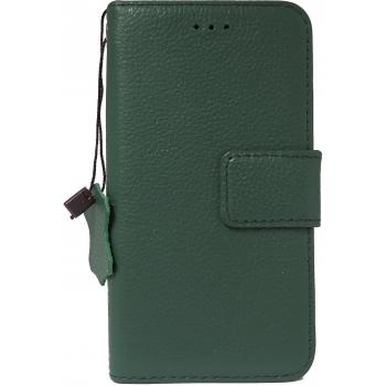 iPhone 7/8 hoesje boekmodel 100% Leer Groen