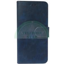 Nokia 5 Boek hoesje Echt leer in Donker Blauw