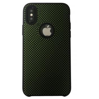 iPhone X Rubberen achterkant Hoesje in Zwart
