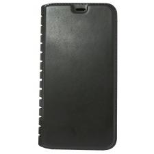 iPhone X luxe boek hoesje in Zwart leer